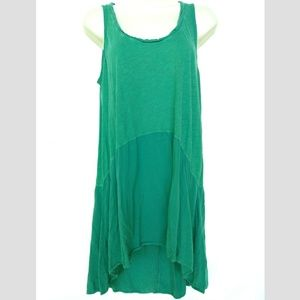 Left of Center Sz M Green Tank Top Tunic Calla